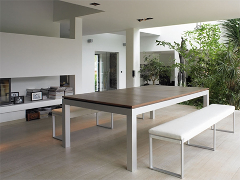 Fusion convertible table - ready to serve dinner