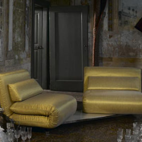 Double Swivel Recliner Sofa from Futura – Le Vele sofa: design in movement