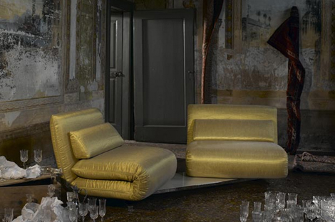 futura italy sofa le vele beige Double Swivel Recliner Sofa from Futura   Le Vele sofa: design in movement