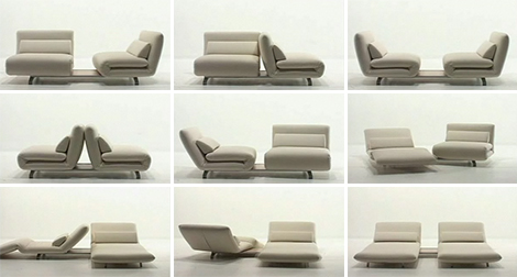 futura le vele swivel recliner sofa Double Swivel Recliner Sofa from Futura   Le Vele sofa: design in movement