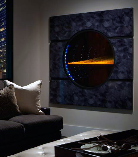 futuristic fireplace solaris heat glo