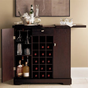 Galerie Spirits Cabinet from Crate & Barrel – a Modern bar cabinet