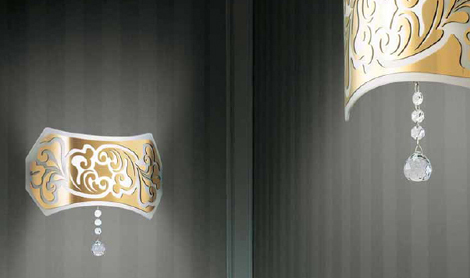 gallery vetri charme wall lamps Modern Italian Lamp from Gallery Vetri   Charme lamp will enhance any room