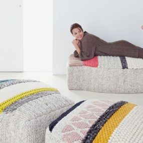 Hand Crafted Wool Rugs and Poufs – Mangas by Gandia Blasco