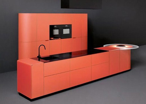 gedcucine kitchen argento vivo 01 Orange Kitchens   new colorful kitchen designs by Ged