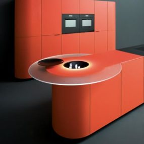 Orange Kitchens – new colorful kitchen designs by Ged