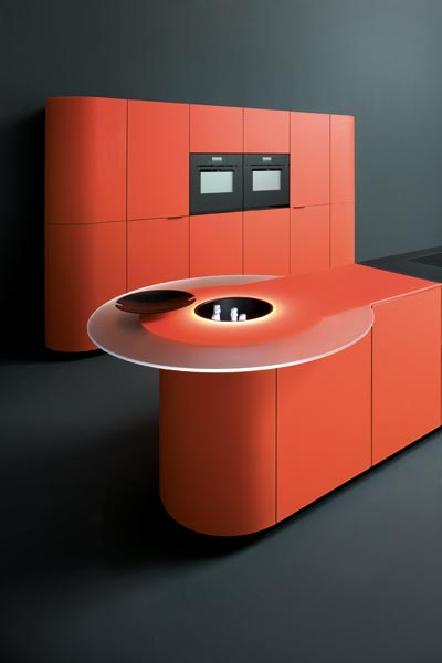 gedcucine kitchen argento vivo 02 Orange Kitchens   new colorful kitchen designs by Ged