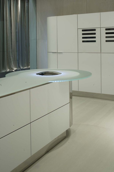 gedcucine kitchen argento vivo 4 Illuminated Kitchen Island   new kitchen Quick Silver (Argento Vivo) from GeD Cucine
