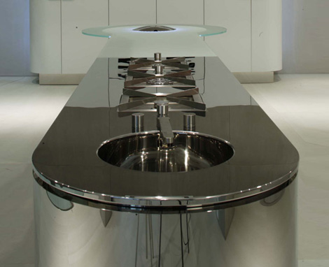 gedcucine kitchen argento vivo 5 Illuminated Kitchen Island   new kitchen Quick Silver (Argento Vivo) from GeD Cucine