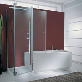 Tub Shower Combo from Genesi – the Tandem combo for two