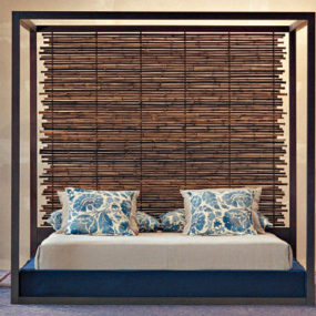 Green Bed from Gervasoni – the Otto bamboo bed
