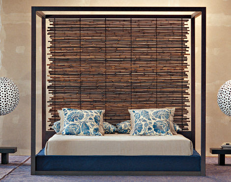 gervasoni bamboo otto bed Green Bed from Gervasoni   the Otto bamboo bed