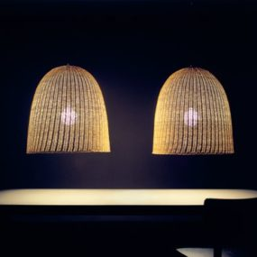 Rattan Lamp from Gervasoni – Bell 95 lets the light shine through
