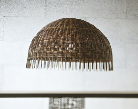 gervasoni rattan suspension lamp croco 95