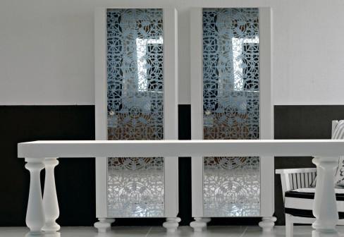 gervasoni storage unit gray 66 a Silk Screen Mirror Furniture from Gervasoni for any room