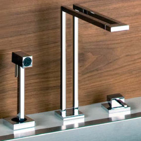 Gessi Duplice Faucets – new unusual geometric faucet designs