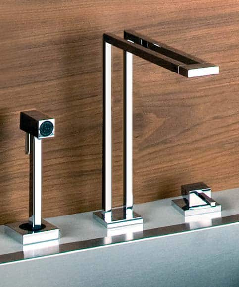 design kitchen faucets gessi duplice faucets new geometric faucet designs 703