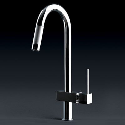hi tech kitchen faucet quadro hi tech kitchen faucet from gessi contemporary pull out faucets 8871