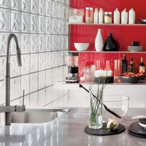 Quadro Hi-Tech kitchen faucet from Gessi – contemporary pull-out faucets