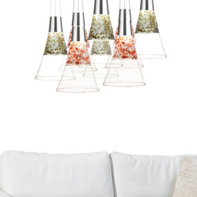 Giant Champagne Glass Lamps by Moise