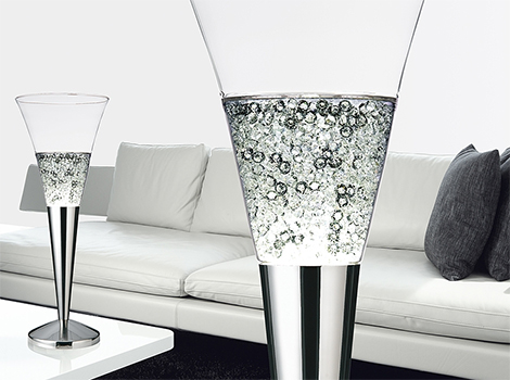 giant champagne glass lamps mood moise 3 Giant Champagne Glass Lamps by Moise