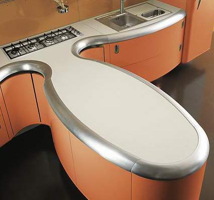Giemmegi Americana Kitchen island closeup