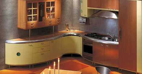 Giemmegi Americana Kitchen in combination with wood
