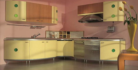 Giemmegi Americana Kitchen in yellow