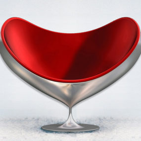 Swivel Fiberglass Chair by Giovannetti – Armchair Love