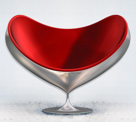 Swivel Fiberglass Chair by Giovannetti – Armchair Love