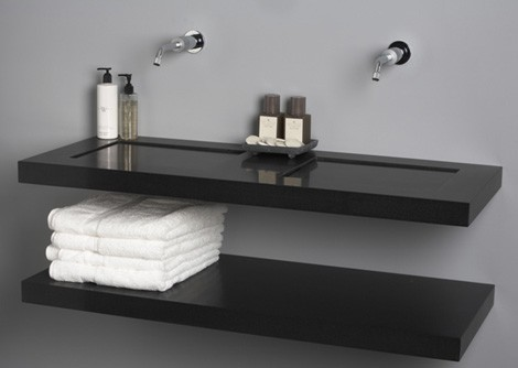 giquadro sink flatline 1 Quartz Sinks from Giquadro   Quadro, Flat Line