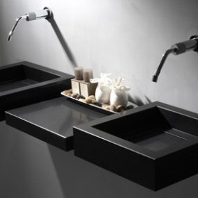 Quartz Sinks from Giquadro – Quadro, Flat Line