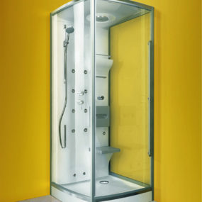 Compact Shower Cabin from Glass Idromassaggio is designed for maximum shower space – new Integra