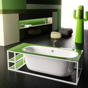 Modern Bathtub Design by Glass Idromassaggio