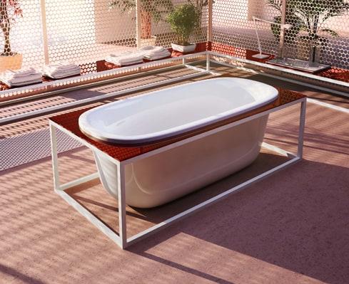 glass idromassaggio naked tub 2 Modern Bathtub Design by Glass Idromassaggio