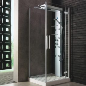 Shower cabin by Glass Idromassaggio – new Andros cabins with sliding shower heads
