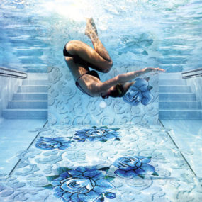 Glass Mosaic Tiles for Pools by Sicis