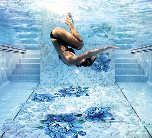 glass mosaic tiles pools sicis mediterranea collection 1 Glass Mosaic Tiles for Pools by Sicis