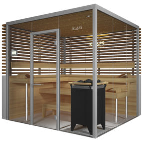 Glass Sauna Room Vitrium by Klafs