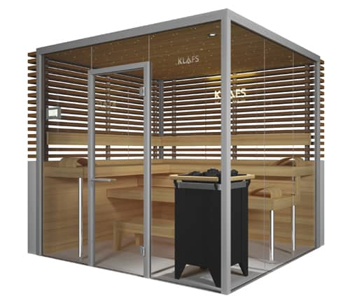 glass sauna room vitrium by klafs. Black Bedroom Furniture Sets. Home Design Ideas