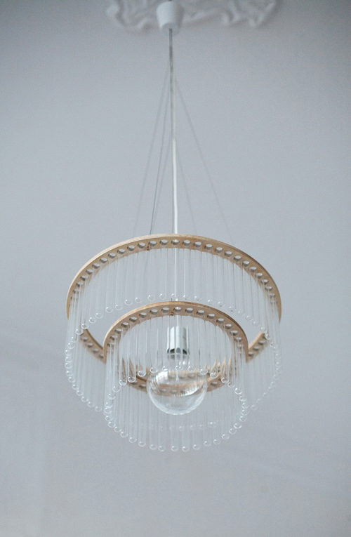glass tube chandelier maria gang design 1 Glass Tube Chandelier: Maria by Gang Design