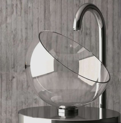glassdesign washbasin moon 1 Glass Wash Basins by Glass Design   Moon