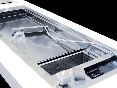 Shallow Prep Sink from Glem – with a cascading water jet!