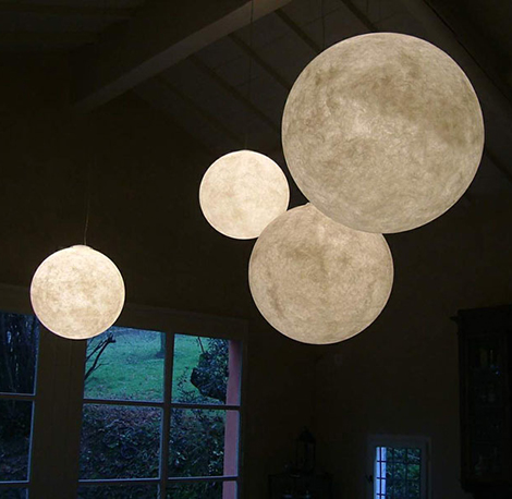 Globe Pendant Light – giant pendant light Moon by In-es.artdesign