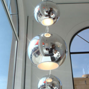 Timeless Globo di Luce Pendant Lighs Re-released, by Fontana Arte