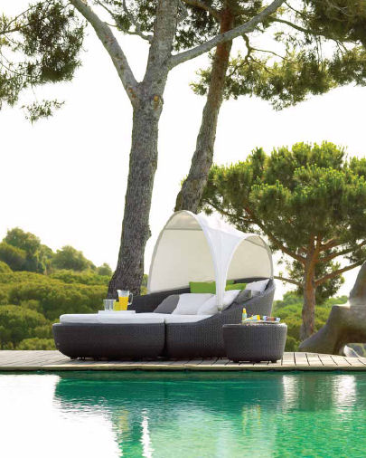 gloster eclipse collection1 Contemporary Outdoor Furniture by Gloster   the Eclipse outdoor collection: an intimate and private space