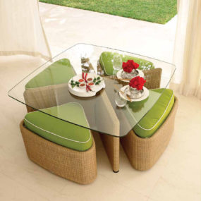 Contemporary Outdoor Furniture by Gloster – the Sushi outdoor collection