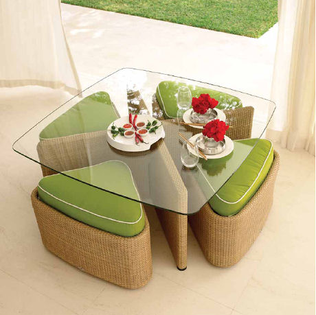 Contemporary outdoor furniture by gloster the sushi for Modern house sushi 9 deler sett