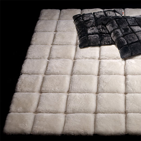 gof chocolate blocks carpet sheepskin Luxury Hide Carpet by Great Outfit   sumptuous and cozy