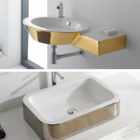 Gold Colored Bathroom Fixtures by Scarabeo